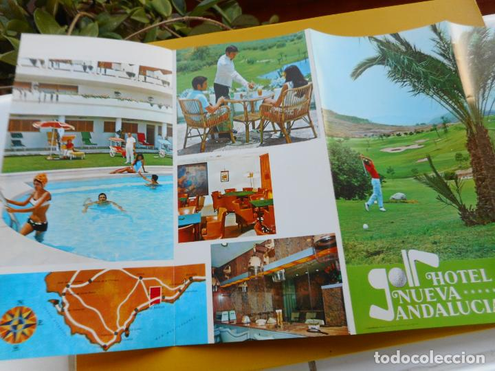 Folletos de turismo: ANTIGUO FOLLETO.HOTEL NUEVA ANDALUCIA MARBELLA 1970 - Foto 3 - 264339048
