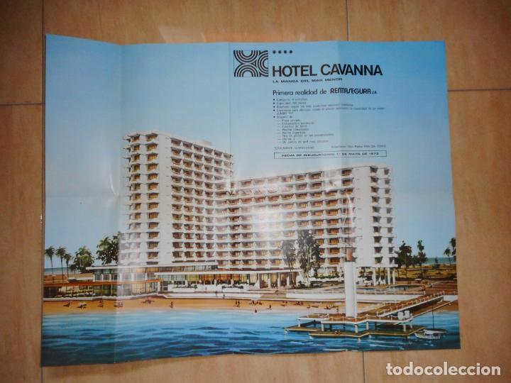 Folletos de turismo: ANTIGUO FOLLETO HOTEL CAVANNA RENTASEGURA S.A PEDRO PAN LA TORRE.LA MANGA MAR MENOR.MURCIA 1972 - Foto 3 - 264458699