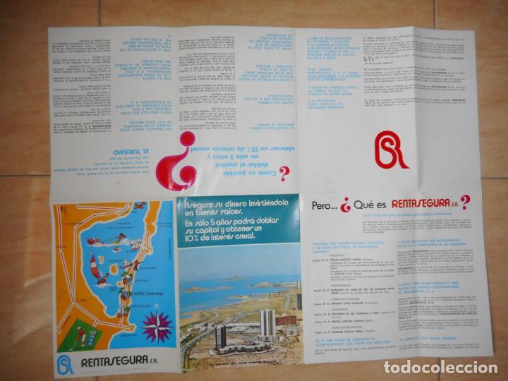 Folletos de turismo: ANTIGUO FOLLETO HOTEL CAVANNA RENTASEGURA S.A PEDRO PAN LA TORRE.LA MANGA MAR MENOR.MURCIA 1972 - Foto 4 - 264458699