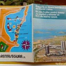 Folletos de turismo: ANTIGUO FOLLETO HOTEL CAVANNA RENTASEGURA S.A PEDRO PAN LA TORRE.LA MANGA MAR MENOR.MURCIA 1972. Lote 264458699