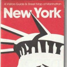 Folletos de turismo: ANTIGUO PLANO NEW YORK 1987 CITY IN THE POCKET WINTER EDITION. Lote 266929029