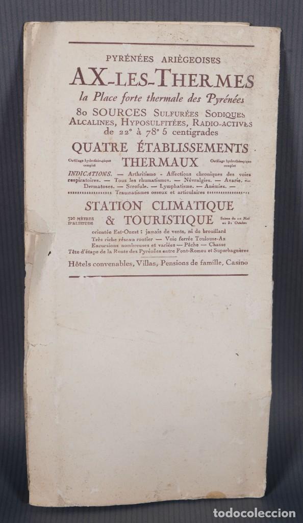 Folletos de turismo: Guia Route des Pyrénées-Carte Itinéraire - C.S. Mai année 1932 - Foto 2 - 268846409