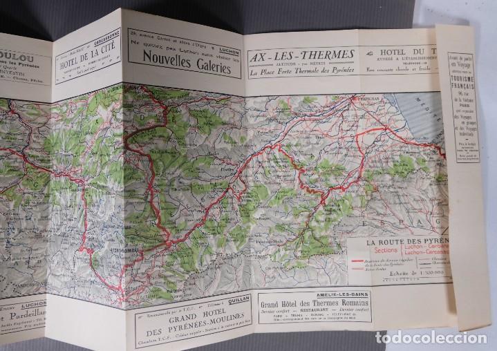 Folletos de turismo: Guia Route des Pyrénées-Carte Itinéraire - C.S. Mai année 1932 - Foto 8 - 268846409