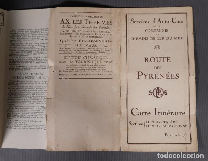 Folletos de turismo: Guia Route des Pyrénées-Carte Itinéraire - C.S. Mai année 1932 - Foto 9 - 268846409
