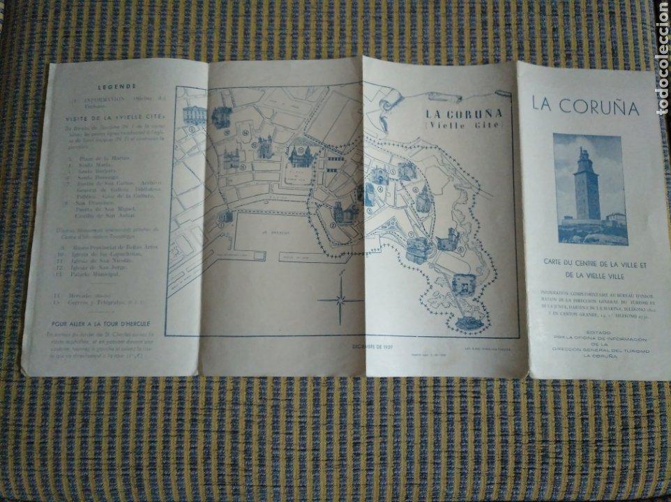 Folletos de turismo: Folleto de turismo de La Coruña 1959 en frances - Foto 2 - 268938954