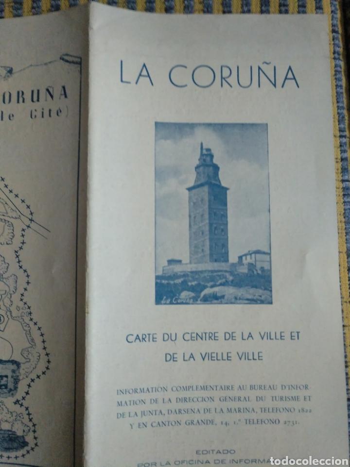 Folletos de turismo: Folleto de turismo de La Coruña 1959 en frances - Foto 4 - 268938954