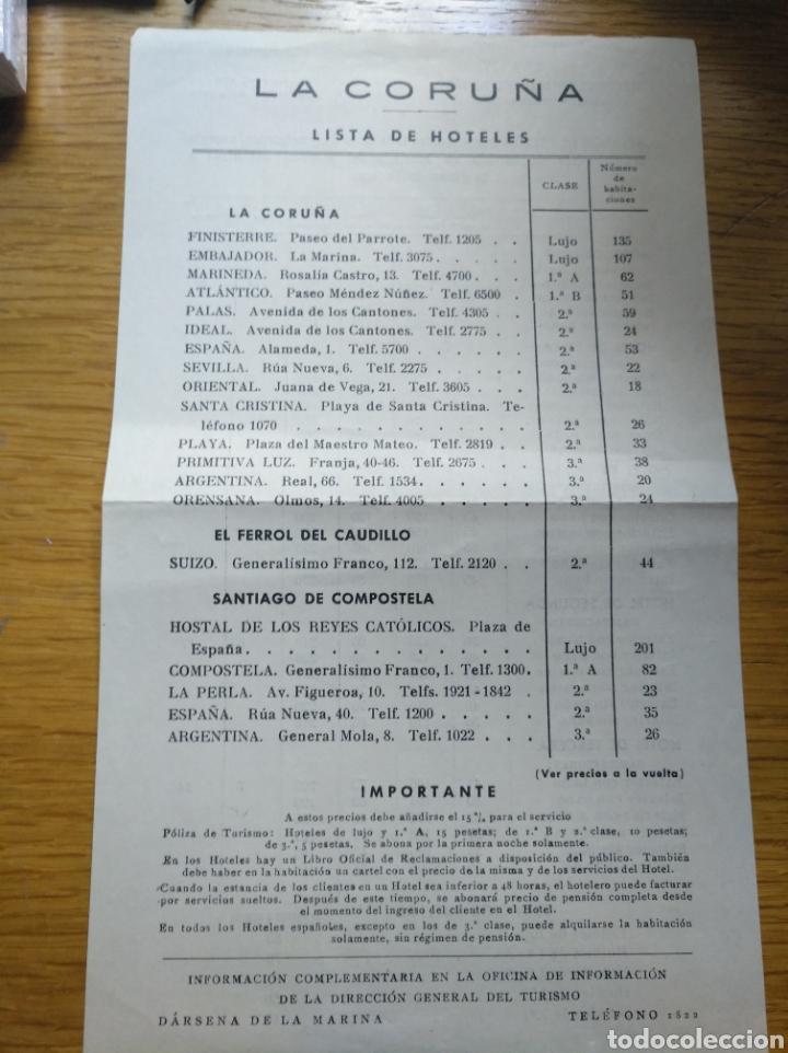 Folletos de turismo: Folleto de turismo de La Coruña 1959 en frances - Foto 6 - 268938954