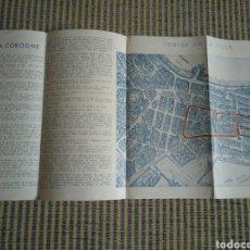 Folletos de turismo: FOLLETO DE TURISMO DE LA CORUÑA 1959 EN FRANCES. Lote 268938954