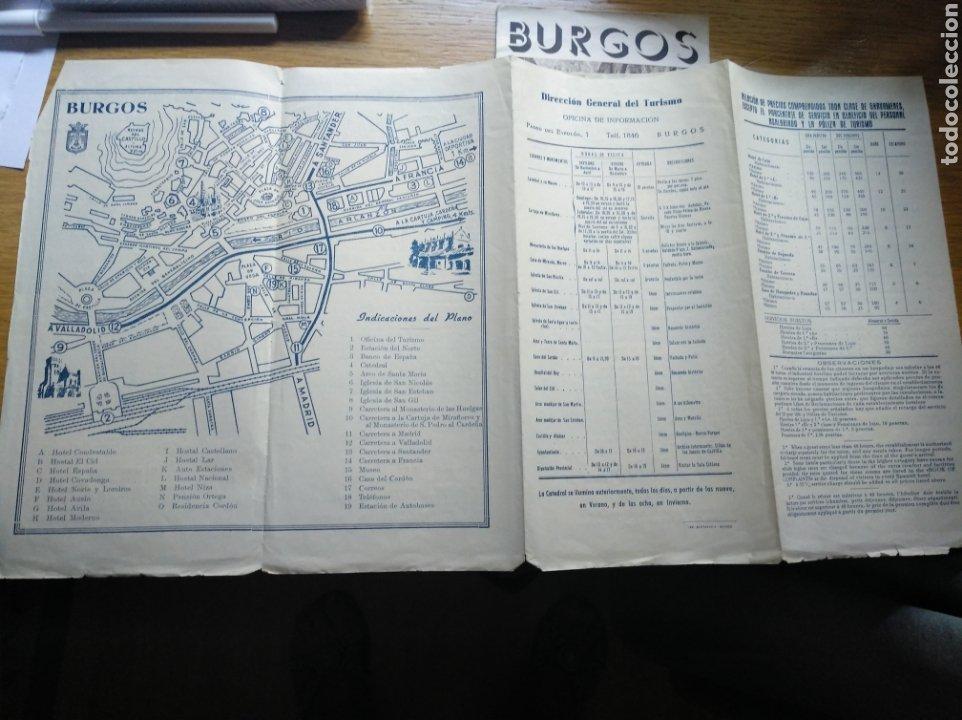 Folletos de turismo: Folleto de turismo de Burgos 1960. Incluye relación de precios de hoteles - Foto 2 - 268939759