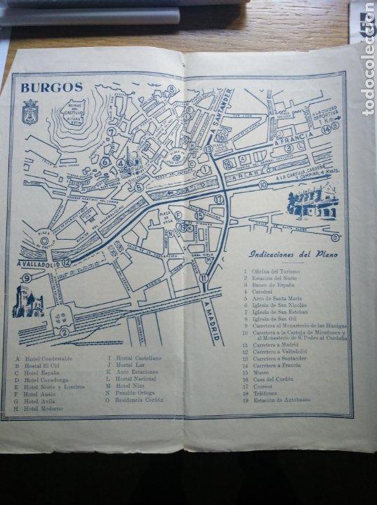 Folletos de turismo: Folleto de turismo de Burgos 1960. Incluye relación de precios de hoteles - Foto 3 - 268939759