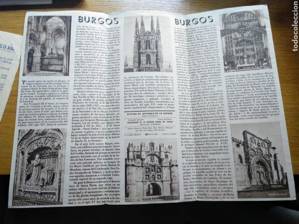 Folletos de turismo: Folleto de turismo de Burgos 1960. Incluye relación de precios de hoteles - Foto 7 - 268939759
