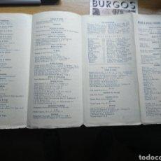 Folletos de turismo: FOLLETO DE TURISMO DE BURGOS 1960. INCLUYE RELACIÓN DE PRECIOS DE HOTELES. Lote 268939759