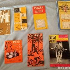 Folletos de turismo: LOTE FOLLETOS PUBLICITARIOS TURÍSTICOS, MAPAS, REVISTA AÑOS 60. Lote 268948414