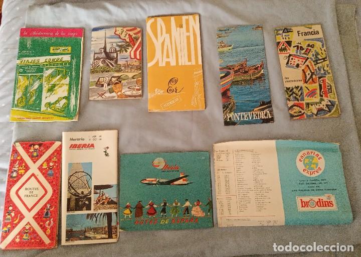 Folletos de turismo: Lote folletos publicitarios turísticos, mapas, revista años 60 - Foto 2 - 268948414