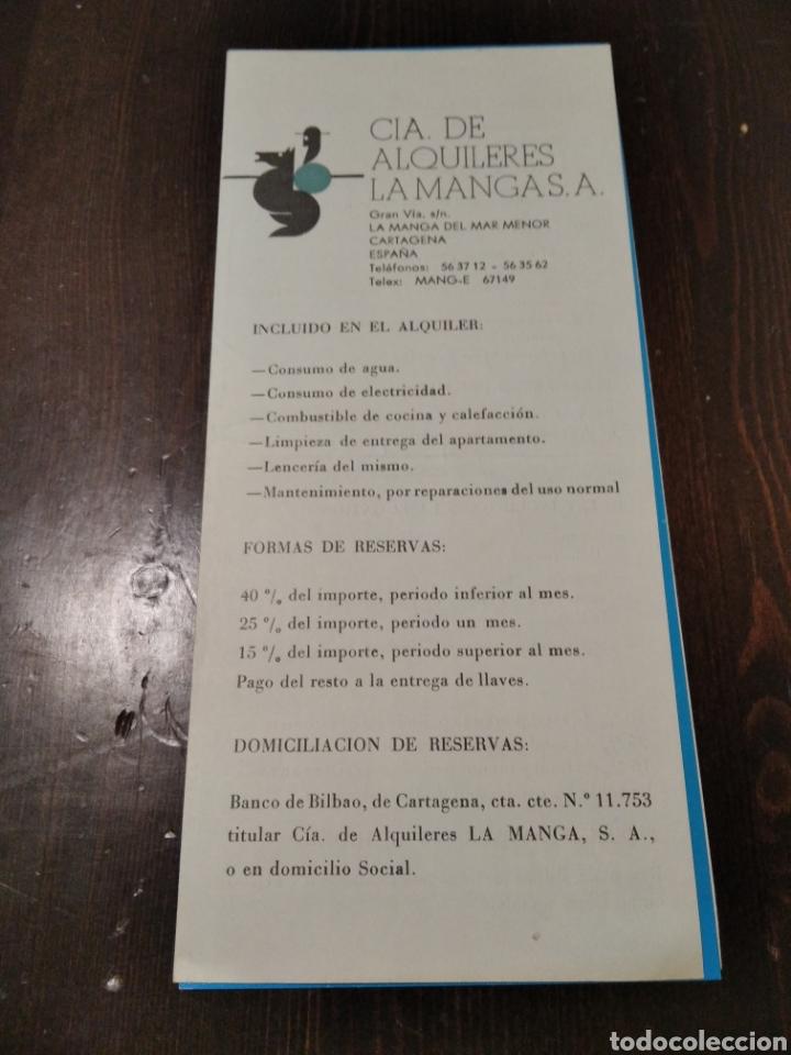 CIA DE ALQUILERES LA MANGA SA (Coleccionismo - Folletos de Turismo)