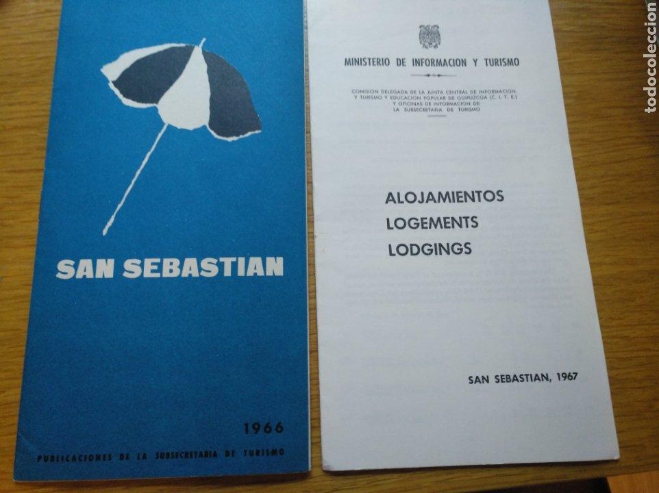 Folletos de turismo: Folletos de turismo y alojamientos de San Sebastián en 1966/67 - Foto 6 - 268979579