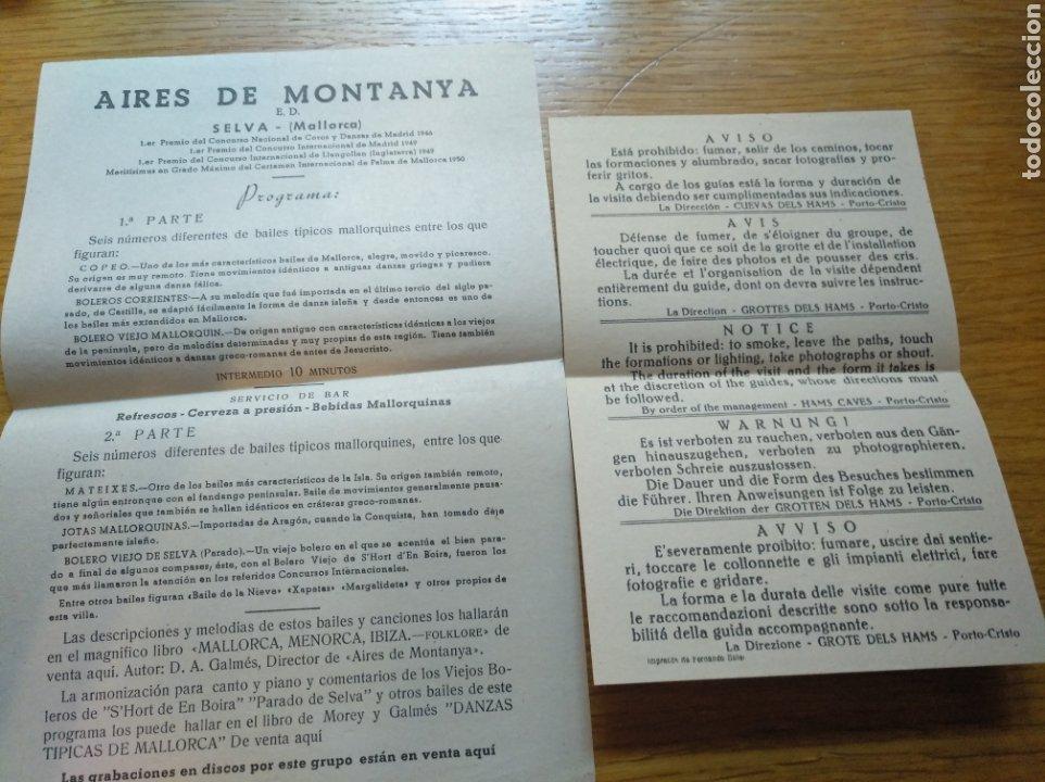 INFORMACIÓN TURÍSTICA SOBRE ACTIVIDADES EN MALLORCA 1960 (Coleccionismo - Folletos de Turismo)