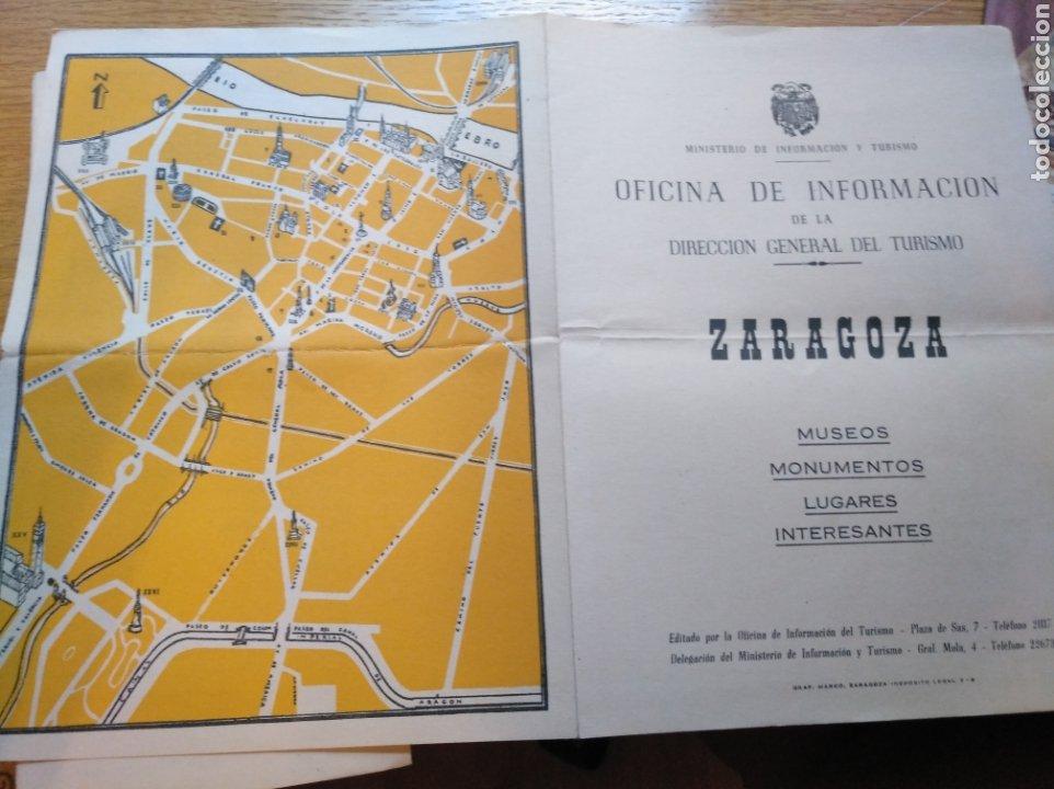 Folletos de turismo: Lote de 3 folletos turísticos de Zaragoza de 1960 - Foto 4 - 268982204