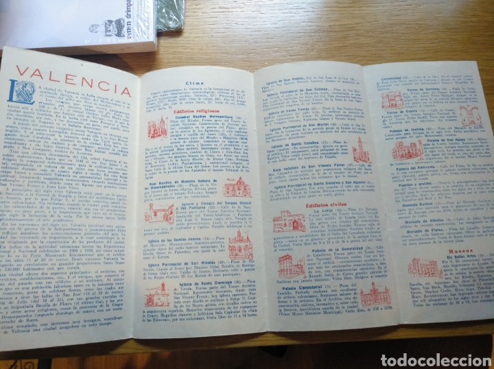 FOLLETO DE TURISMO DE VALENCIA 1958 (Coleccionismo - Folletos de Turismo)