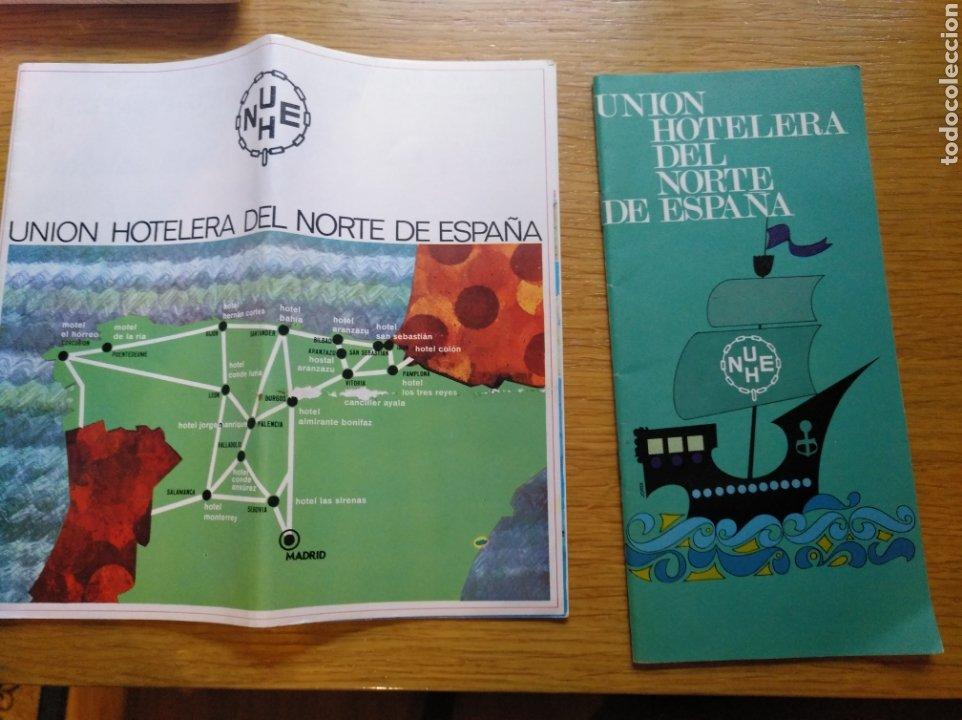 DOS FOLLETOS DE 1966 Y 1969 DE UNIÓN HOTELERA DEL NORTE (Coleccionismo - Folletos de Turismo)