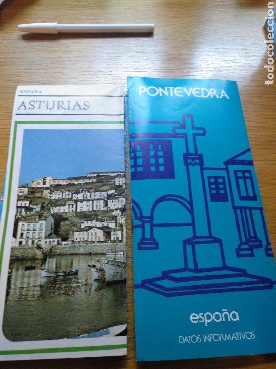 FOLLETOS DE ASTURIAS Y DE PONTEVEDRA. AÑOS 70 (Coleccionismo - Folletos de Turismo)