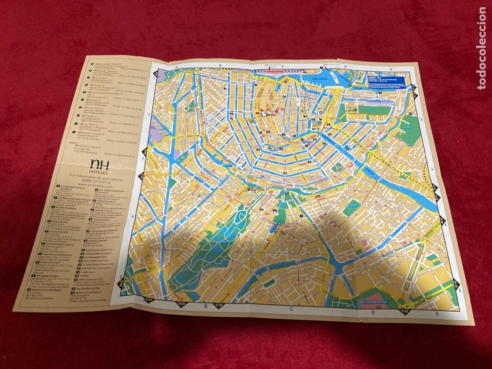 MAPA CIUDAD DE AMSTERDAND NH HOTELS (Coleccionismo - Folletos de Turismo)