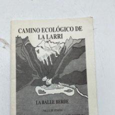 Folletos de turismo: PARADOR DE TURISMO DE BIELSA. REVISTA CON 30 VISITAS DESDE EL PARADOR A VARIOS SITIOS. HUESCA, 1998. Lote 269212918