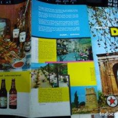 Folhetos de turismo: FOLLETO CERVEZAS DAMM * RUTAS TURÍSTICAS DE BARCELONA A TORTOSA , CON PLANO*1964. Lote 270193303