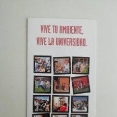 Brochures de tourisme: FOLLETO PROMOCIONAL CIUDAD RESIDENCIAL UNIVERSITARIA UNIVERSIDAD DE ALCALÁ DE HENARES. Lote 270590928