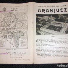 Folletos de turismo: ARANJUEZ MADRID FOLLETO DE TURISMO CON SELLO DE LA REPUBLICA. Lote 270601663