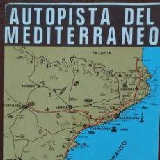 Brochures de tourisme: ANTIGUO FOLLETO TURÍSTICO, AUTOPISTA DEL MEDITERRÁNEO, AÑOS '60 // VALENCIA CÓRDOBA MARBELLA SEVILLA. Lote 274752248