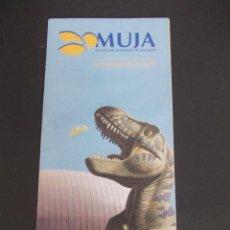 Folletos de turismo: FOLLETO GUIA DE MANO VISITANTE MUJA MUSEO DEL JURÁSICO DE ASTURIAS. Lote 275599323