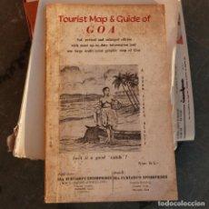 Folletos de turismo: MAPA TURISTICO Y GUIA DE GOA, INDIA, AÑOS 40. Lote 276963103