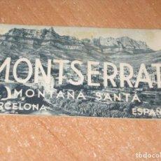 Folletos de turismo: MONTSERRAT MONTAÑA SANTA. Lote 277174578