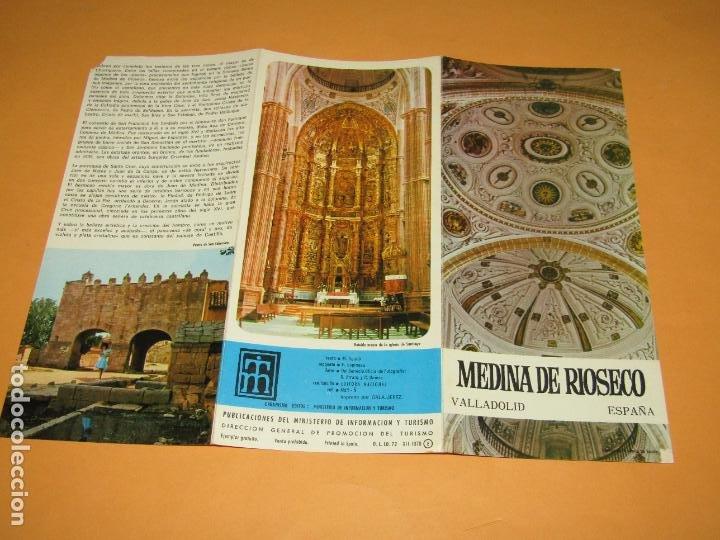 Folletos de turismo: Catálogo Publicitario de MEDINA DE RIOSECO por el Ministerio de Información y Turismo - Año 1960s - Foto 2 - 277184723