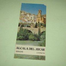 Folletos de turismo: CATÁLOGO PUBLICITARIO DE ALCALA DE JUCAR POR EL MINISTERIO DE INFORMACIÓN Y TURISMO - AÑO 1960S. Lote 277184798