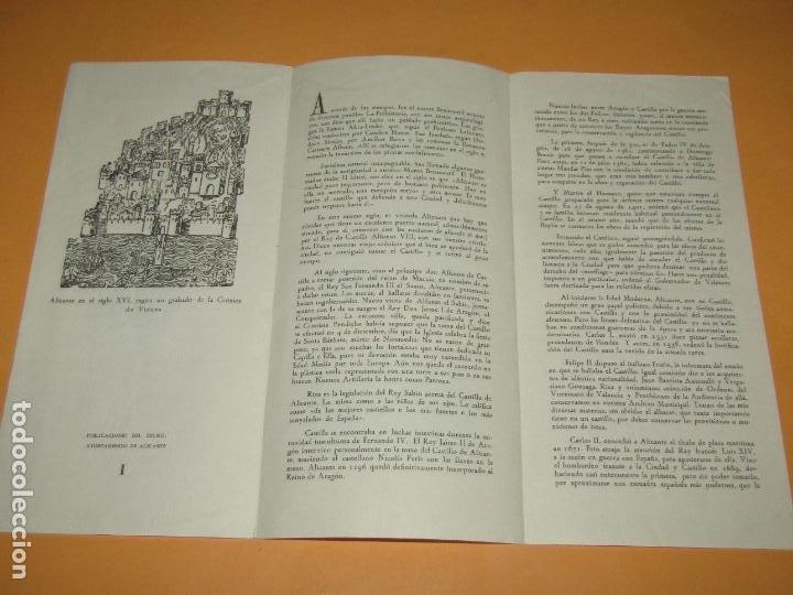 Folletos de turismo: Catálogo Publicitario del CASTILLO DE SANTA BÁRBARA de Alicante - Año 1962 - Foto 2 - 277185353