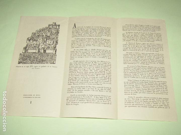 Folletos de turismo: Catálogo Publicitario del CASTILLO DE SANTA BÁRBARA de Alicante - Año 1962 - Foto 4 - 277185353