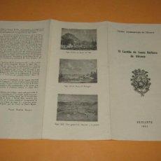 Folletos de turismo: CATÁLOGO PUBLICITARIO DEL CASTILLO DE SANTA BÁRBARA DE ALICANTE - AÑO 1962. Lote 277185353