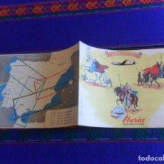 Folletos de turismo: RUTAS DE ESPAÑA, IBERIA LÍNEAS AÉREAS DE ESPAÑA 1960. FOTOS DE TODAS LAS PÁGINAS. MBE.. Lote 277594893