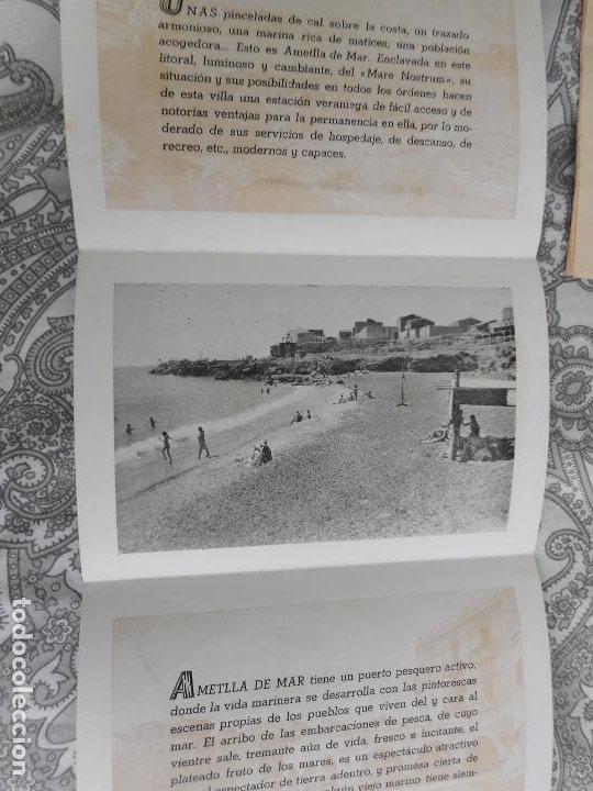 Folletos de turismo: ANTIGUO FOLLETO DESPEGABLE.AMETLLA DE MAR. - Foto 2 - 277705923