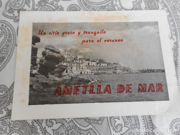 ANTIGUO FOLLETO DESPEGABLE.AMETLLA DE MAR. (Coleccionismo - Folletos de Turismo)