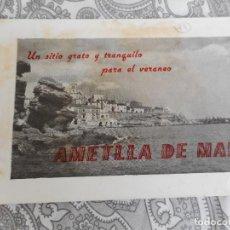 Folletos de turismo: ANTIGUO FOLLETO DESPEGABLE.AMETLLA DE MAR.. Lote 277705923