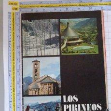 Folletos de turismo: DOCUMENTO FOLLETO TURÍSTICO. LOS PIRINEOS 1977 SECRETARIA DE TURISMO. 80GR. 76. Lote 278532068