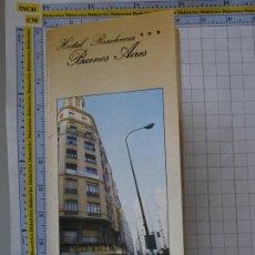 Folletos de turismo: DOCUMENTO FOLLETO TURÍSTICO. MADRID HOSTAL RESIDENCIA BUENOS AIRES. 30GR. 86. Lote 278532588