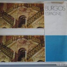 Folletos de turismo: DOCUMENTO FOLLETO TURÍSTICO. BURGOS, AÑO 1974 COMISARÍA TURISMO. 50GR. 88. Lote 278532688
