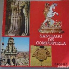 Folletos de turismo: DOCUMENTO FOLLETO TURÍSTICO. SANTIAGO DE COMPOSTELA. 1975 SUBSECRETARIA TURISMO. 50GR. 90. Lote 278532813