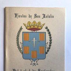 Folletos de turismo: SARIÑENA AÑO 1962 / PROGRAMA DE FIESTAS DE SAN ANTOLÍN / HUESCA. Lote 278803868