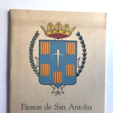 Folletos de turismo: SARIÑENA AÑO 1963 / PROGRAMA DE FIESTAS DE SAN ANTOLÍN / HUESCA. Lote 278804293