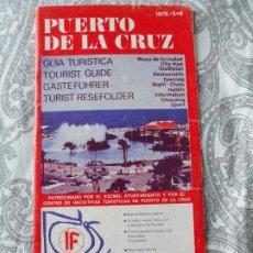 Folletos de turismo: ANTIGUO FOLLETO.PUERTO DE LA CRUZ.TENEFIFE.1978.DISCOTECAS.PUBS.RESTAURANTS.BARES.SHOWS.NIGHT CLUB. Lote 279524633